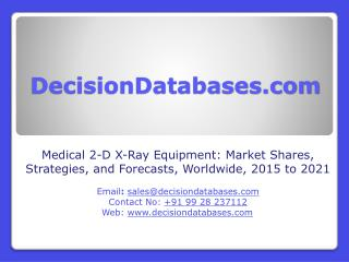 Medical 2-D X-Ray Equipment Market Forecasts 2021- Worldwide Industry Share and Strategies