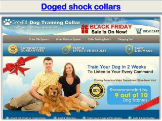 Doged shock collars