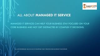 What is managed IT service?
