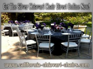 Get The Silver Chiavari Chair Direct Online Now!