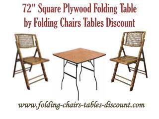 72 Inches Square Plywood Folding Table by Folding Chairs Tables Discount