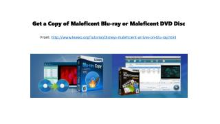Get a copy of maleficent blu ray or maleficent dvd disc