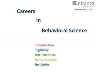 Careers In Behavioral Science