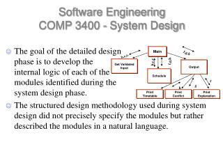 Software Engineering  COMP 3400 - System Design