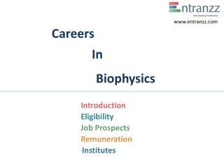 Careers In Biophysics