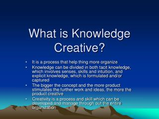 What is Knowledge Creative?