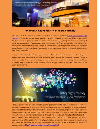 Innovative approach for best productivity