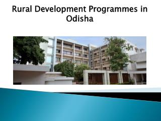 Rural development programmes in odisha