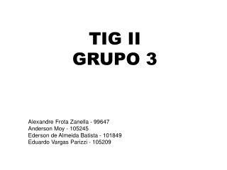 TIG  II GRUPO 3