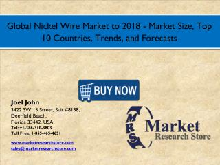 Global Nickel Wire Market 2016: Size, Share, Segmentation, Trends, and Groth Forecasts 2018