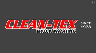 Quality Mobile Truck Washing Services - Clean-Tex Truck Washing