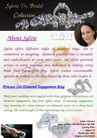 Stylish Princess Cut Diamond Engagement Ring