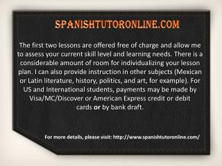 Spanish online classes