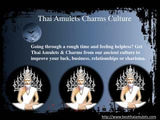 Thai Amulets Charms Culture