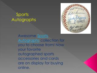 Sports Autographs