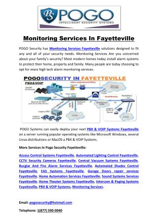 Monitoring Services In Fayetteville