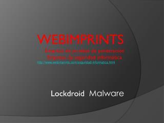 Lockdroid  Malware