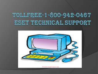 Tollfree-1-800-942-0467 Eset technical support number