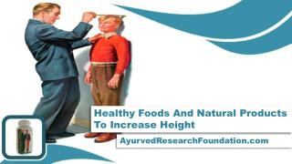 Healthy Foods And Natural Products To Increase Height