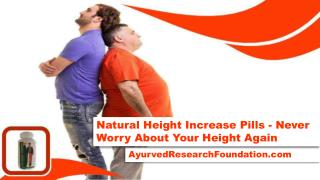Natural Height Increase Pills - Never Worry About Your Height Again