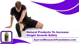 Natural Products To Increase Height Growth Safely