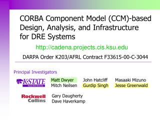 CORBA Component Model (CCM)-based Design, Analysis, and Infrastructure for DRE Systems