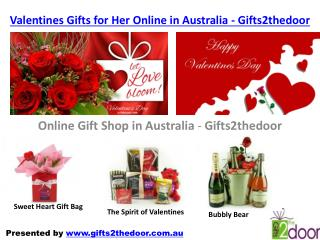 Valentines Gifts for Him Online in Australia - Gifts2thedoor