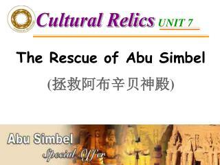 The Rescue of Abu Simbel ( 拯救阿布辛贝神殿 )