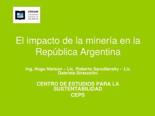 El impacto de la miner a en la Rep blica Argentina