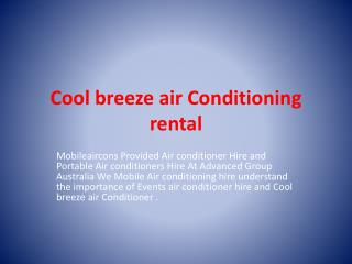 Cool breeze air Conditioner
