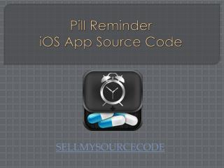 Pill Reminder iOS App Source Code