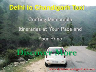 Innova Taxi Delhi to Chandigarh - Delhi to Chandigar Taxi