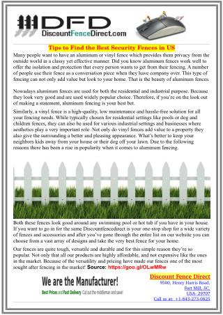 Why Buying Aluminum Fences is Viable Option For Owners!