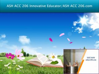 ASH ACC 206 Innovative Educator/ASH ACC 206.com
