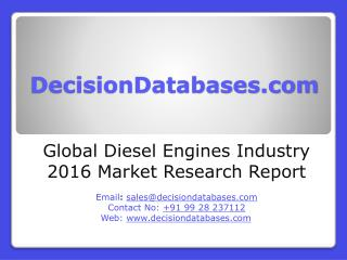 Diesel Engines Market Analysis 2016 Development Trends