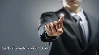 Safety & Security Services in UAE