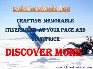 Delhi to Shimla Taxi | Taxi From Delhi to Shimla