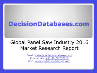 Panel Saw Market Analysis and Forecasts 2021