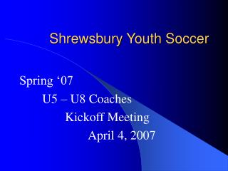 Shrewsbury Youth Soccer
