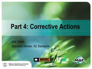 Part 4: Corrective Actions