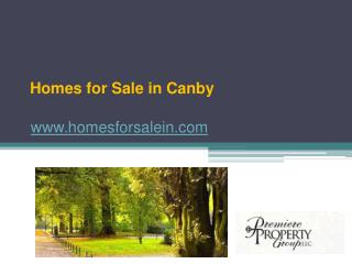 Homes for Sale in Canby - www.homesforsalein.com