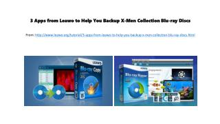 3 apps from leawo to help you backup x men collection blu-ray discs