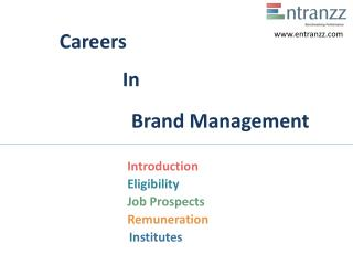Careers In Brand Management