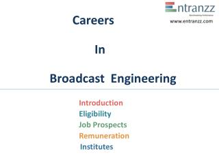 Careers In Broadcast