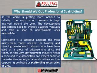AbulFazl - Aluminum Scaffold Tower in UAE