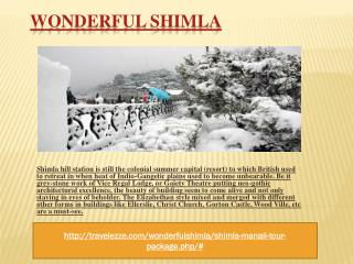 Wonderful Shimla  02 Nights / 03 Days