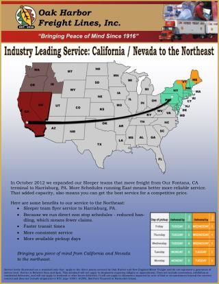 Leading Industry in Transportation Service in California