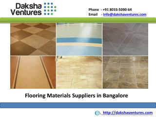 Flooring Materials Suppliers in Bangalore, India