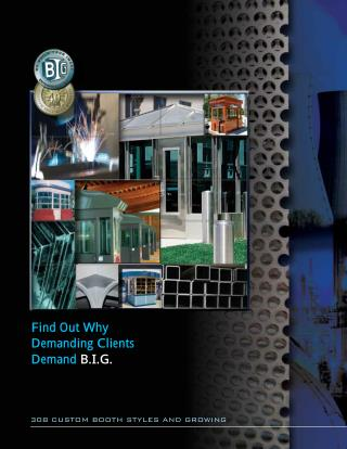 BIG Booth Catalog - B.I.G. Custom Guard Booth Manufaturer