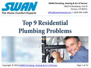 9 Top Denver Plumbing Problems